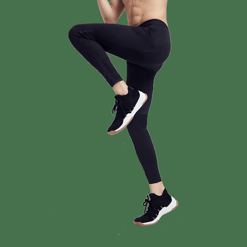男式无缝贴合运动打底裤