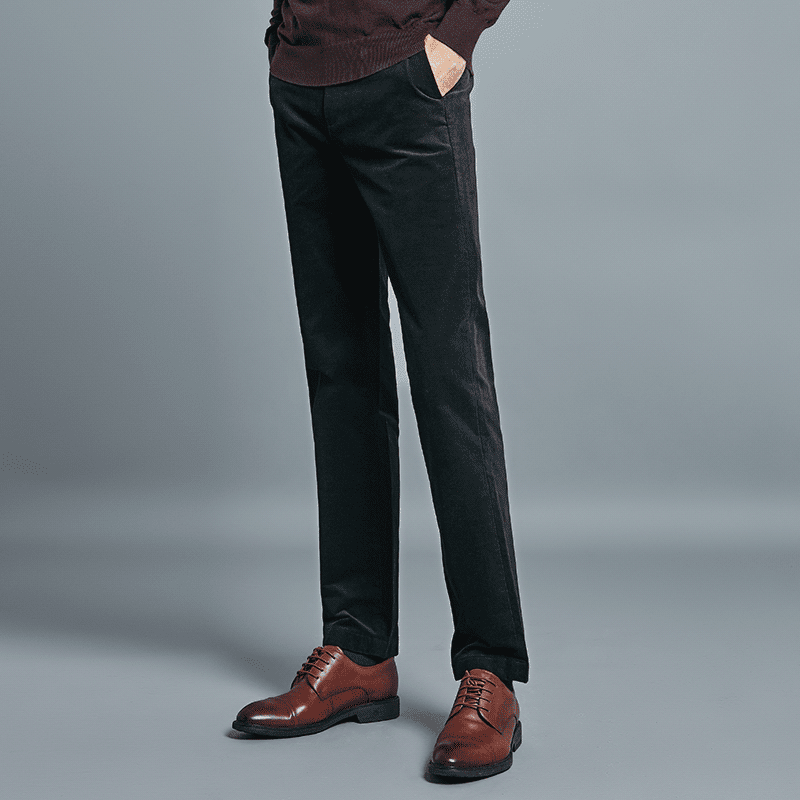 男式灯芯绒合体直筒休闲裤