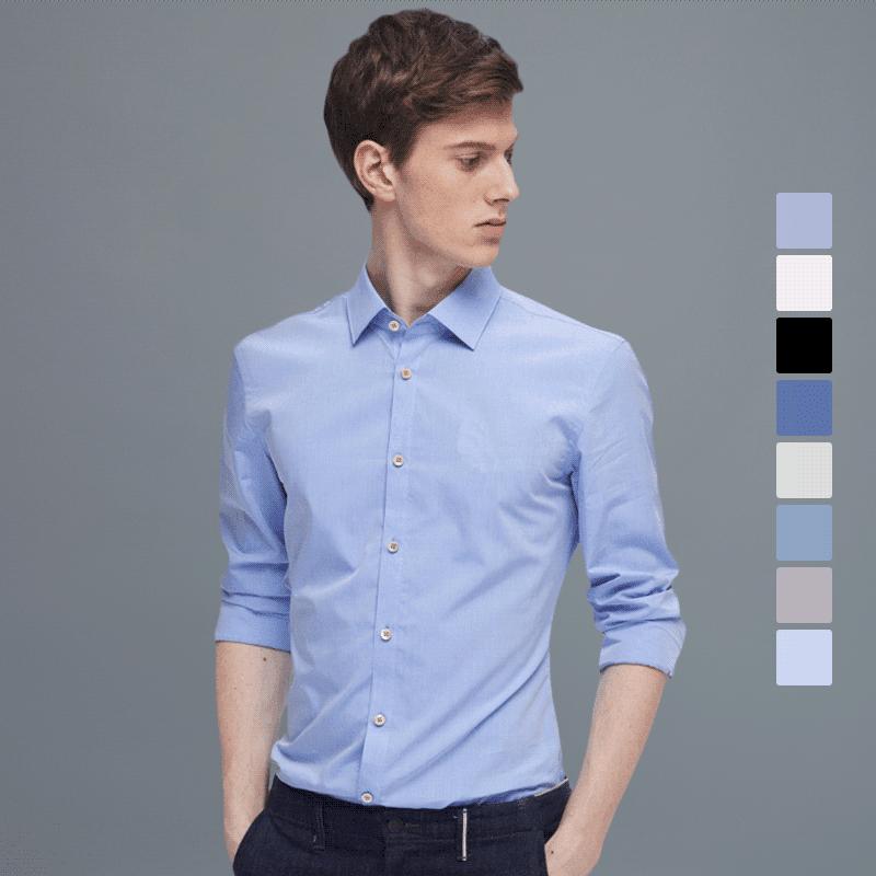 男士量体定制经典商务衬衫